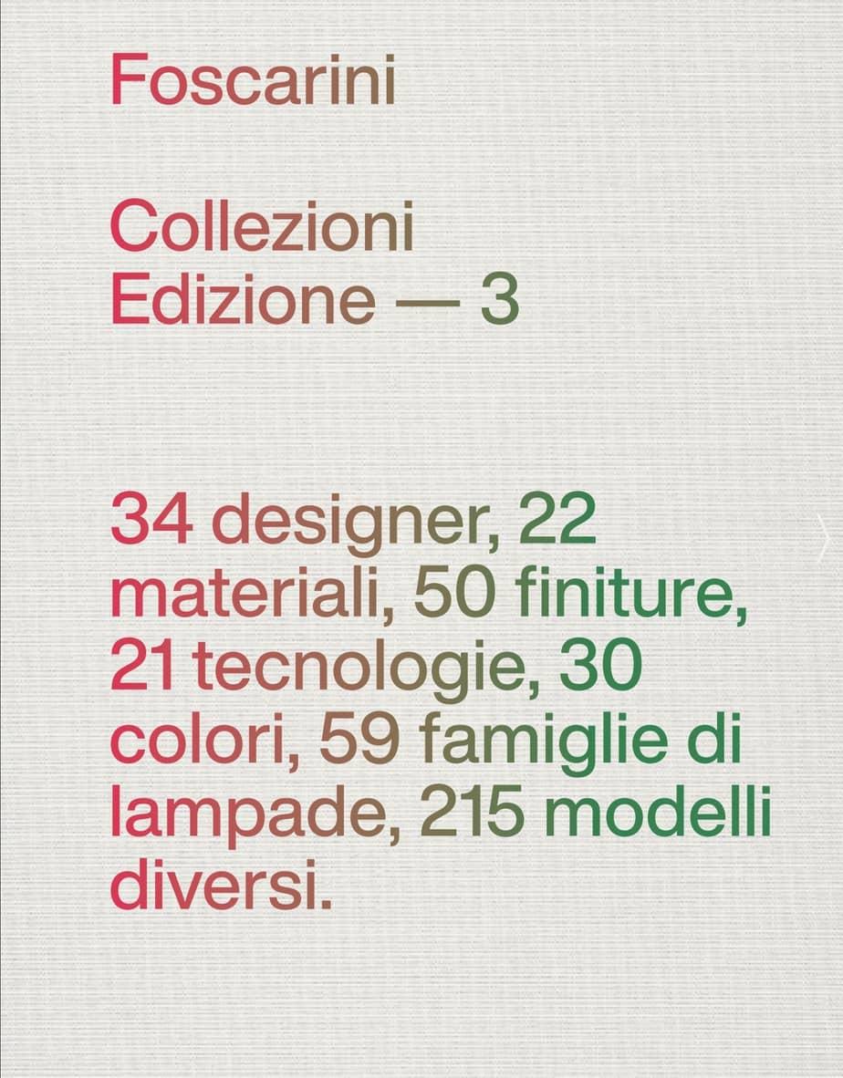 Foscarini Katalog Mai 2020